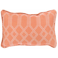 Crissy 19 X 13 inch Orange and White Outdoor Pillow Cover