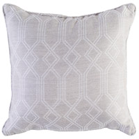 Crissy 16 X 16 inch Khaki and White Outdoor Pillow Cover