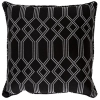 Crissy 16 X 16 inch Black and White Outdoor Pillow Cover