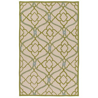 Courtyard 36 X 24 inch Green and Neutral Outdoor Area Rug, Polypropylene