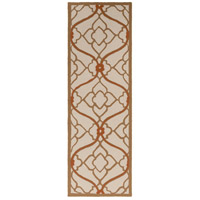 Courtyard 96 X 30 inch Brown and Neutral Outdoor Runner, Polypropylene