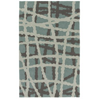 Courtyard 90 X 60 inch Blue and Black Outdoor Area Rug, Polypropylene