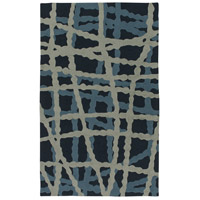 Courtyard 36 X 24 inch Blue and Blue Outdoor Area Rug, Polypropylene
