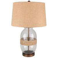 Surya CWY-001 Callaway 27 inch 100 watt Wheat Table Lamp Portable Light