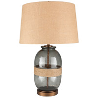 Surya CWY-002 Callaway 27 inch 100 watt Wheat Table Lamp Portable Light