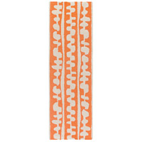 Surya DCR4028-268 Decorativa 96 X 30 inch Orange and Neutral Runner, Wool