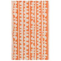 Surya DCR4028-58 Decorativa 96 X 60 inch Orange and Neutral Area Rug, Wool