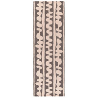 Surya DCR4029-268 Decorativa 96 X 30 inch Brown and Neutral Runner, Wool