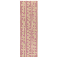 Surya DCR4031-268 Decorativa 96 X 30 inch Pink and Neutral Runner, Wool