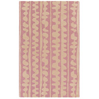 Surya DCR4031-58 Decorativa 96 X 60 inch Pink and Neutral Area Rug, Wool