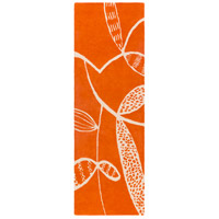 Surya DCR4037-268 Decorativa 96 X 30 inch Orange and Neutral Runner, Wool
