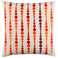 Surya DE001-2020D Dewdrop 20 X 20 inch Bright Orange and Rust Throw Pillow