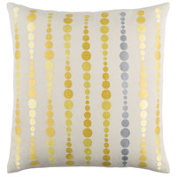 Surya DE002-2020P Dewdrop 20 X 20 inch Butter and Bright Yellow Throw Pillow