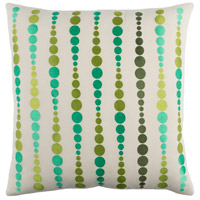 Surya DE003-2020D Dewdrop 20 X 20 inch Emerald and Lime Throw Pillow
