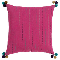 Surya DH001-1818 Dhaka 18 X 18 inch Bright Pink Pillow Cover, Square
