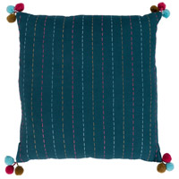 Surya DH002-1818 Dhaka 18 X 18 inch Teal Pillow Cover, Square