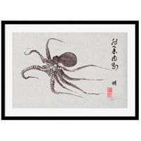Surya DH116A001-1815 Flying Octopus Calligraphy Wall Art, Rectangle, Eternal photo thumbnail