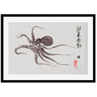Surya DH116A001-2822 Flying Octopus Calligraphy Wall Art, Rectangle, Eternal alternative photo thumbnail