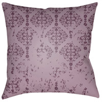 Surya DK008-2020 Moody Damask 20 X 20 inch Purple and Purple Outdoor Throw Pillow photo thumbnail
