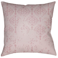 Surya DK013-2020 Moody Damask 20 X 20 inch Pink and Purple Outdoor Throw Pillow photo thumbnail
