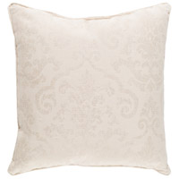Damara 16 X 16 inch Off-White and Khaki Outdoor Pillow Cover