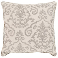 Damara 16 X 16 inch Off-White and Brown Outdoor Pillow Cover
