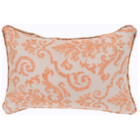 Damara 19 X 13 inch Beige and Orange Outdoor Pillow Cover