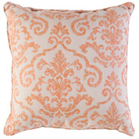 Damara 16 X 16 inch Beige and Orange Outdoor Pillow Cover