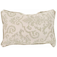 Damara 19 X 13 inch Khaki and Brown Outdoor Pillow Cover