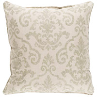 Damara 16 X 16 inch Khaki and Brown Outdoor Pillow Cover