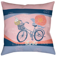 Surya DO005-1818 Doodle 18 X 18 inch Pink and Yellow Outdoor Throw Pillow