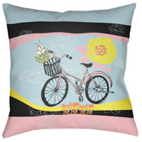 Surya DO007-1818 Doodle 18 X 18 inch Green and Pink Outdoor Throw Pillow