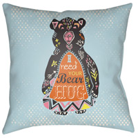 Surya DO009-1818 Doodle 18 X 18 inch Blue and Orange Outdoor Throw Pillow