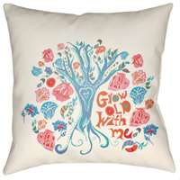 Surya DO010-1818 Doodle 18 X 18 inch Pink and Blue Outdoor Throw Pillow