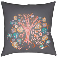 Surya DO011-1818 Doodle 18 X 18 inch Orange and Green Outdoor Throw Pillow