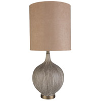 Surya DRK-001 Drake 32 inch 100 watt Charcoal Table Lamp Portable Light