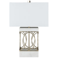 Surya White Marble Table Lamps