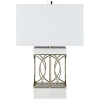 Surya DRN-002 Dorian 24 inch 100 watt White Table Lamp Portable Light