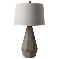 Surya DRY-100 Draycott 29 inch 100 watt Taupe Table Lighting Portable Light in Grey Washed