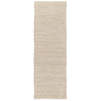 Surya DSO202-268 Desoto 96 X 30 inch Neutral and Brown Runner, Wool