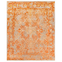Desiree 156 X 108 inch Neutral and Orange Area Rug, Wool, Viscose, and Cotton