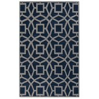 Dream 36 X 24 inch Blue and Gray Area Rug, Wool
