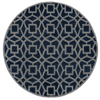 Dream 96 inch Blue and Gray Area Rug, Wool