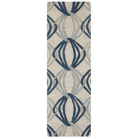 Dream 96 X 30 inch Blue and Gray Runner, Wool