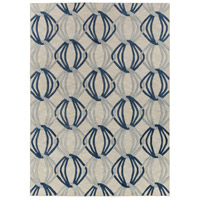 Dream 132 X 96 inch Blue and Gray Area Rug, Wool
