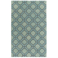 Dream 96 X 60 inch Green and Gray Area Rug, Wool