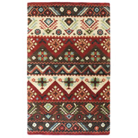 Dream 36 X 24 inch Red and Brown Area Rug, Wool