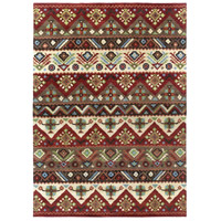Dream 132 X 96 inch Red and Brown Area Rug, Wool