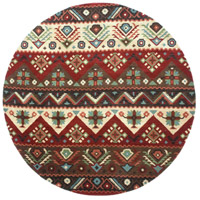 Dream 96 inch Red and Brown Area Rug, Wool