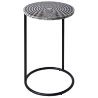 Dunn 15 inch Black and Cream and Ivory Accent Table